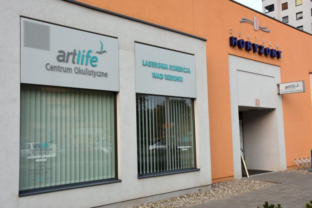 Wejście do Centrum Okulistycznego ArtLife