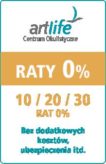 Centrum okulistyczne Artlife - raty 0% na zabiegi okulistyczne
